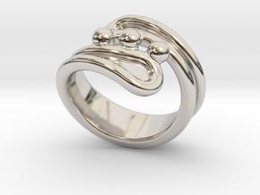 Threebubblesring 31 - Italian Size 31 in Platinum