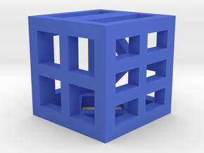 Hollow Dice in Blue Processed Versatile Plastic