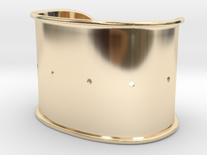 Cuff Band Only - Original Dimensions in 14k Gold Plated Brass
