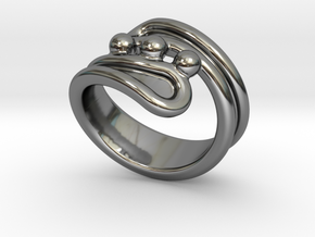 Threebubblesring 32 - Italian Size 32 in Fine Detail Polished Silver