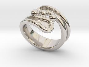 Threebubblesring 32 - Italian Size 32 in Platinum
