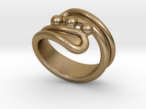 Threebubblesring 32 - Italian Size 32 in Polished Gold Steel