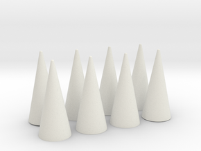 Spikes Only - Flat Bases (for any cuff band) in White Natural Versatile Plastic