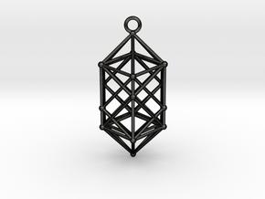 Hyperdiamond projection of 24 cell Octoplex 50mm in Matte Black Steel