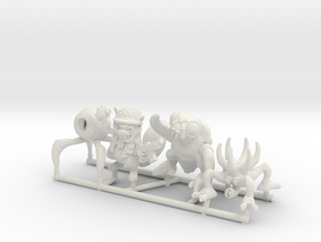 Mutant Squad (Set of 4) in White Natural Versatile Plastic: Medium
