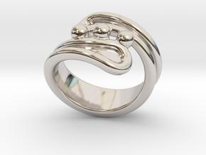 Threebubblesring 33 - Italian Size 33 in Platinum