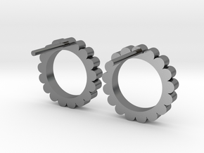 Ingranaggi - Stud Earrings in Polished Silver