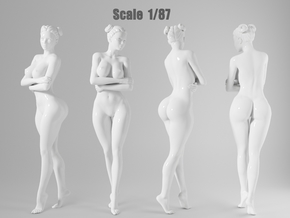 1:87 Sexy little girl in 2cm-007 in Frosted Extreme Detail