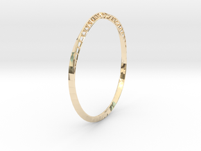 Mobius Bangle in 14K Yellow Gold