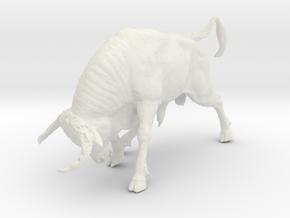 Printle Thing Bull - 1/35 in White Natural Versatile Plastic