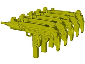 1/48 scale IMI Uzi submachineguns x 5 in Smoothest Fine Detail Plastic