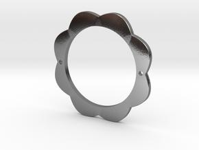 FLOWER POWER Pendant for Necklace or Bracelet in Polished Silver: Medium