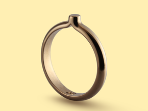 Shapesweeper Circular Basic Ring in Polished Bronze: 5.5 / 50.25