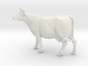 Printle Thing Cow - 1/35 in White Natural Versatile Plastic