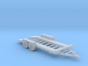 18-Foot Car Hauler Towing in Smooth Fine Detail Plastic