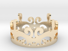 the CROWN ring in 14k Gold Plated