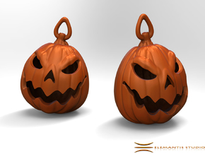 Jack O'lantern Earrings 2.5cm in Orange Strong & Flexible Polished
