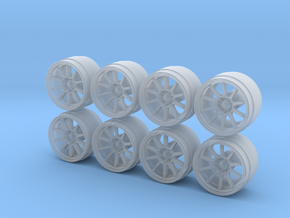 Rays Volk Racing CE28N 8-6 Hot Wheels Rims in Smooth Fine Detail Plastic