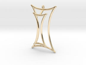 Talbot's Curve Pendant in 14K Yellow Gold