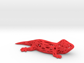 Voronoi Gecko in Red Processed Versatile Plastic