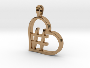 Alpha Heart 'Hashtag' in Polished Brass