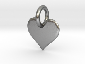little heart in Natural Silver