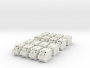1/35 Russian 12.7mm Ammo box (16 set) in White Natural Versatile Plastic: 1:18