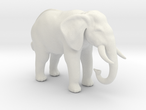 Printle Thing Elephant - 1/48 in White Natural Versatile Plastic