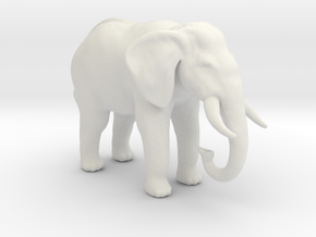 Printle Thing Elephant - 1/64 in White Natural Versatile Plastic