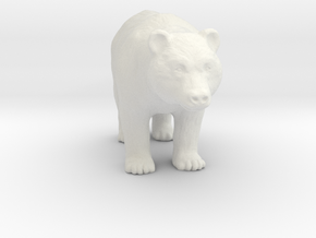 Printle Thing Bear - 1/87 in White Strong & Flexible