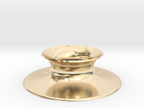 "The Universe Sphere Base ""Round"" in 14k Gold Plated Brass"