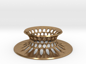 """The Universe Sphere Base """"Grid"""" in Natural Brass"""