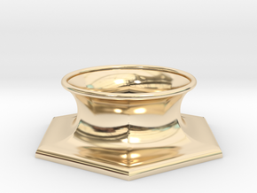 """The Universe Sphere Base """"Hexagon"""" in 14k Gold Plated Brass"""