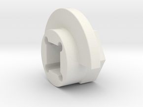 DX4 wheel adapter BS=11mm in White Strong & Flexible