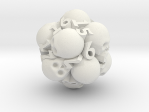 Spin-Down Ossuary d20 in White Premium Strong & Flexible