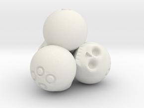 Ossuary d4 in White Premium Strong & Flexible