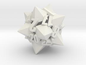 Dodecapentacone d20 in White Premium Versatile Plastic