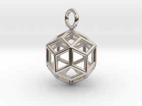 Pendant_Rhombic-Triacontahedron in Platinum