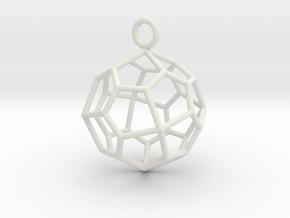 Pendant_Pentagonal-Icositetrahedron in White Natural Versatile Plastic