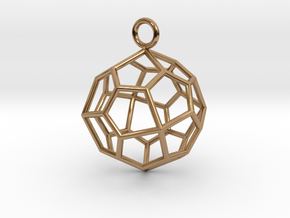 Pendant_Pentagonal-Icositetrahedron in Polished Brass