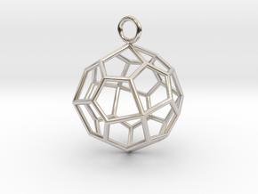 Pendant_Pentagonal-Icositetrahedron in Rhodium Plated Brass