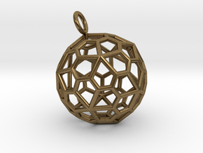 Pendant_Pentagonal-Hexecontahedron in Natural Bronze