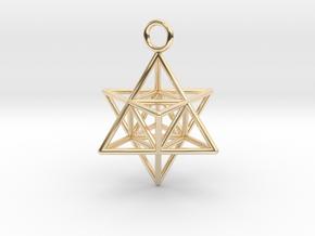 Pendant_Merkaba-Triforce in 14k Gold Plated Brass