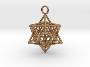 Pendant_Cuboctahedron-Star in Polished Brass