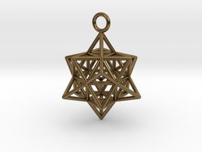 Pendant_Cuboctahedron-Star in Natural Bronze
