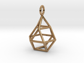 Pendant_Cuboctahedron-Droplet in Polished Brass