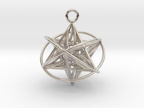 Pendant_Orbital-Merkaba in Platinum