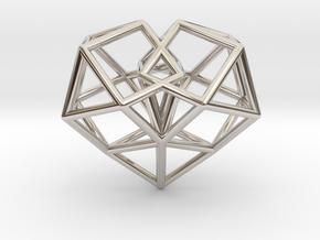 Pendant_Cuboctahedron-Heart in Platinum