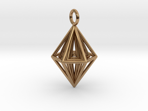 Pendant_Tripyramid in Polished Brass