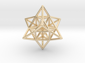 Pendant_Cuboctahedron_Star_without eyelet in 14k Gold Plated Brass